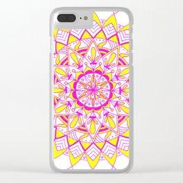 pinkAndyellow Clear iPhone Case