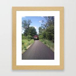 Covered Bridge Framed Art Print