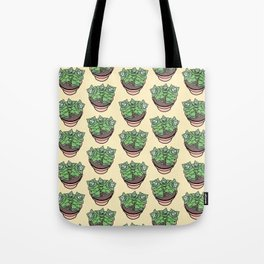 Succulents House Plant Illustration Pattern Tote Bag