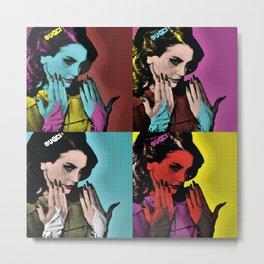 Woman Of Many Colors Metal Print