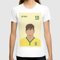 neymar T-shirts featuring NEYMAR by Anthony Morell