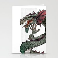 dragon Stationery Cards featuring dragon by Erdogan Ulker