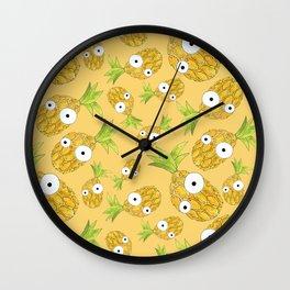 Pineapple Madness Wall Clock