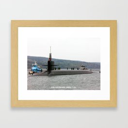 USS LOUISIANA (SSBN-743) Framed Art Print