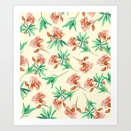Tropical Oleander Art Print