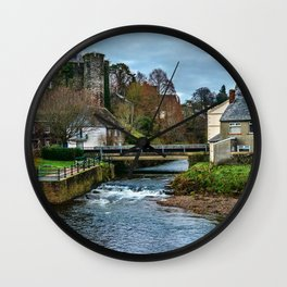 The Castle At Brecon Wall Clock