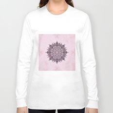 Pink Mandala Fractal Art Long Sleeve T-shirt