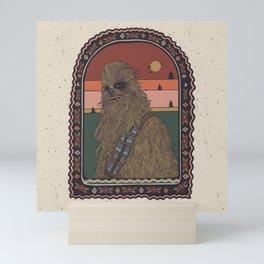 """""""Most Loyal Pal - Chewbacca"""" by Cassidy Rae Marietta Mini Art Print"""