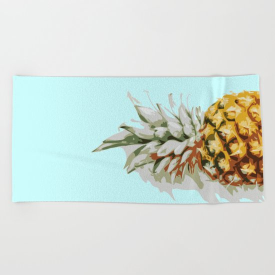 Summer Ananas Beach Towel