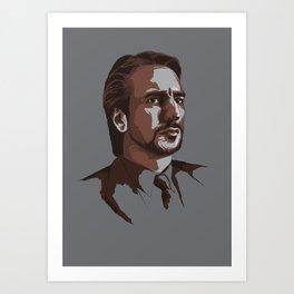 Villains: Hans Gruber Art Print