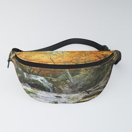 Autumn Forest Waterfall Fanny Pack