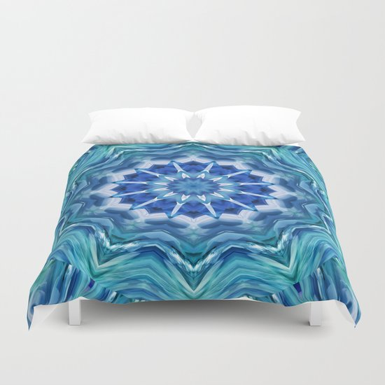 Mandala sea breeze Duvet Cover