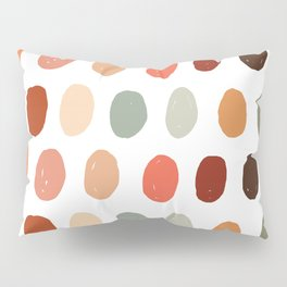 Warm Autumn, minimal retro Hand drawn pastel dots pattern Pillow Sham