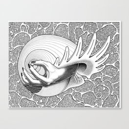 Prélude à la naissance de Vénus (Prelude to Venus' birth) Canvas Print