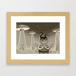 bee movie noir Framed Art Print