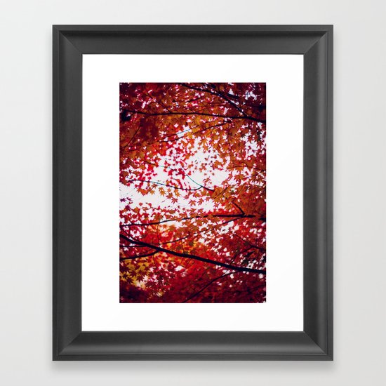 up in the trees you'll find peace Framed Art Print