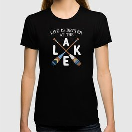Life Is Better At The LAKE Painted Paddles T-shirt
