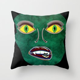 Scary Face (Mask) Throw Pillow