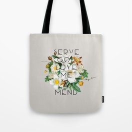 Love Me & Mend - Much Ado About Nothing, Shakespeare Quote Tote Bag