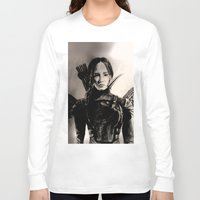 mockingjay Long Sleeve T-shirts featuring MOCKINGJAY by shochat