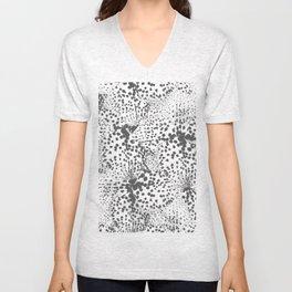 Dalmatian spots in Grey  Unisex V-Neck