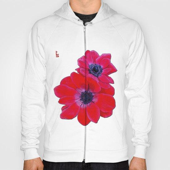 Velvet Red Poppy Anemone I Hoody