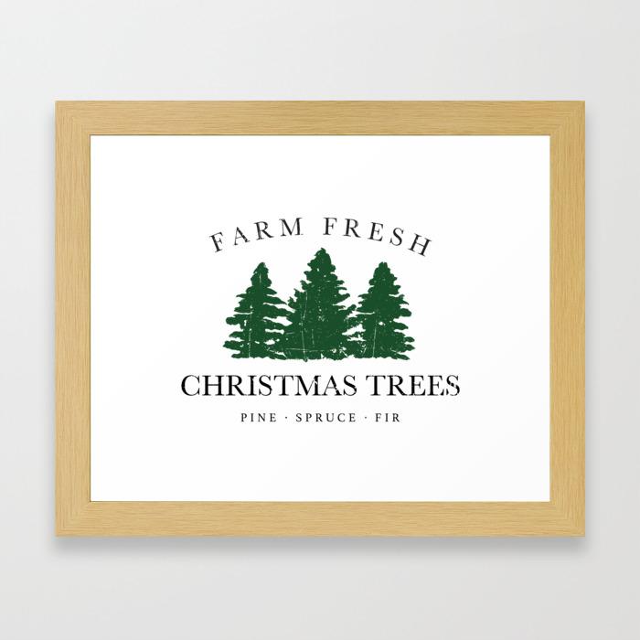 Farm Fresh Christmas Trees.Farm Fresh Christmas Trees Framed Art Print