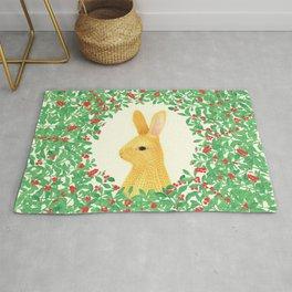 Lingon bunny Rug