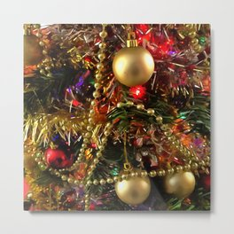 Christmas Ornaments and Decorative Beads Metal Print