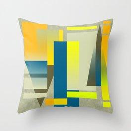 METROPOLIS | yellow Throw Pillow