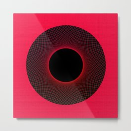 Strawberry Vortex Red Metal Print