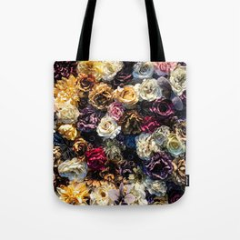 Flower Wall // Full Color Floral Accent Background Jaw Dropping Decoration Tote Bag