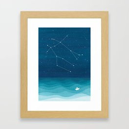 Gemini zodiac constellation Framed Art Print