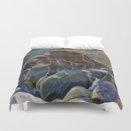 The Mountain King - Cougar Wildlife Art Duvet Cover