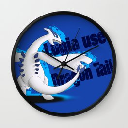 Lugia use Dragon Tail - blue vrs. Wall Clock