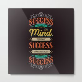 Lab No. 4 Success Is Joyce Brothers Life Inspirational Quote Metal Print