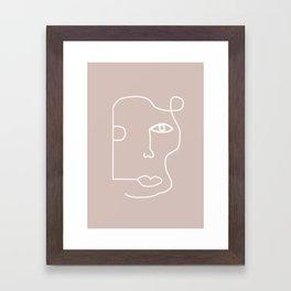 Line Drawing, Female Art Framed Art Print