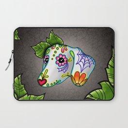Dachshund - Day of the Dead Sugar Skull Wiener Dog Laptop Sleeve