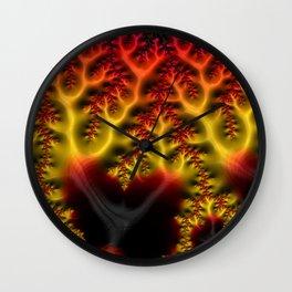 Fiery Fractal Wall Clock