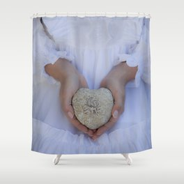 Heart of stone Shower Curtain