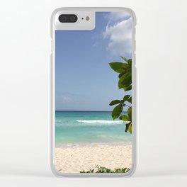 Island Blues Clear iPhone Case