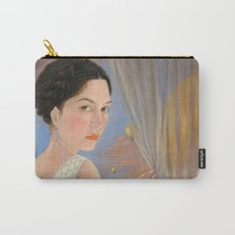 Lady and a Bird of Paradise Carry-All Pouch