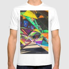 cubed MEDIUM Mens Fitted Tee White
