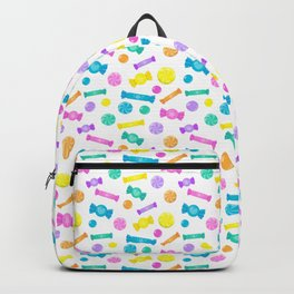 Pastel Rainbow Candy Shop Pattern Backpack