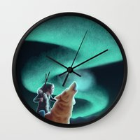 howl Wall Clocks featuring Howl by slewisillustration