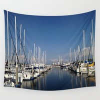 marina Wall Tapestries featuring Marina Livin by M. Gold Photography