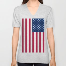 Flag of USA - American flag, flag of america, america, the stars and stripes,us, united states Unisex V-Neck