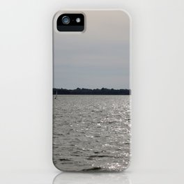 lonely sailboat iPhone Case