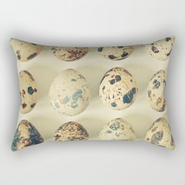 Quail Eggs Rectangular Pillow