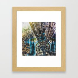Dubai from the tallest building in the world Framed Art Print
